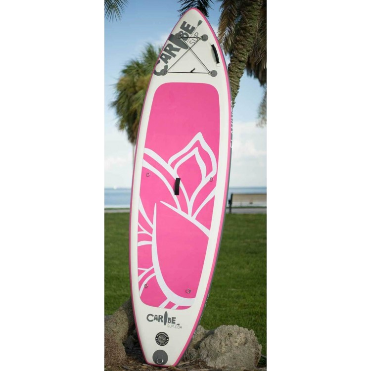 10  Pink Flamingo Women s Inflatable Stand Up Paddle Board by Caribe SUP 18a49c229a