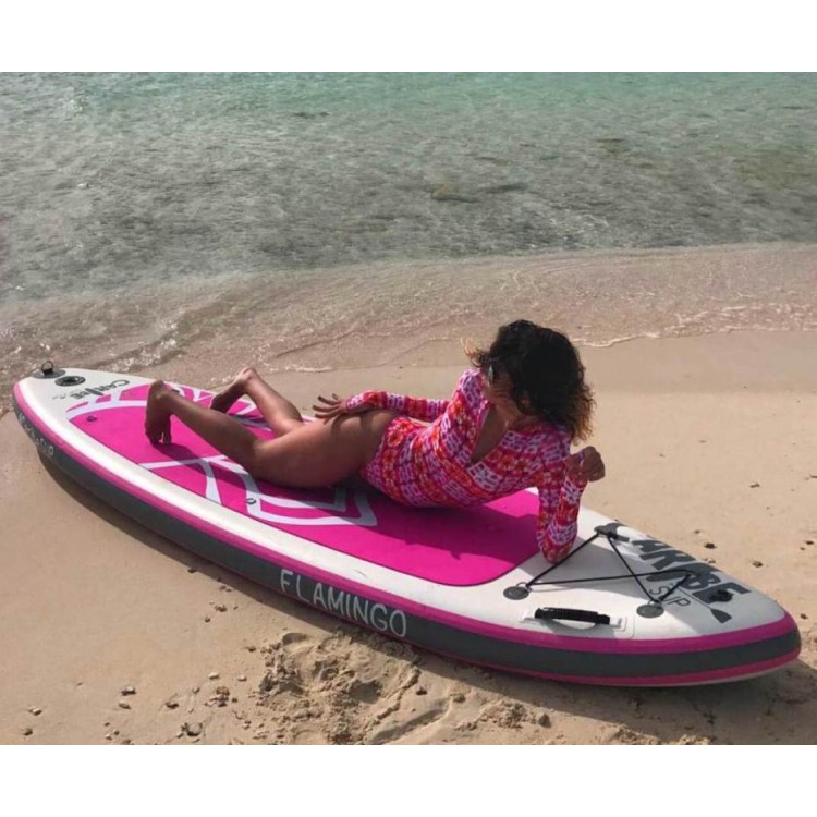 10  Pink Flamingo Women s Inflatable Stand Up Paddle Board by Caribe SUP d1113008a